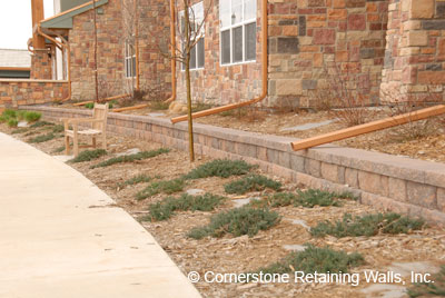 Landscape retaining wall constructed with Pavestone modular block in Westminster, CO