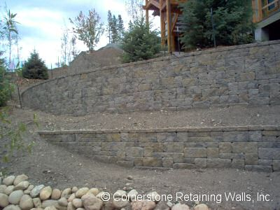 retaining wall in Fraser, Colorado