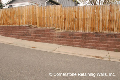 Structural retaining wall for a residence that required engineering